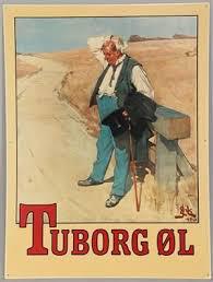 Tuborg mand Tuborg Plakat Den tørstige mand
