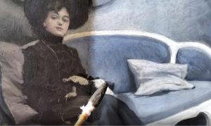 Eksempel på rensning af maleri Paul Fischer