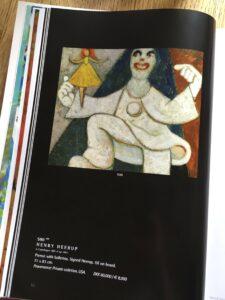 rensning af maleri-Pierrot med Ballerina-Bruun Rasmussen kunstauktioner