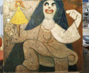 Henry Heerup under rensning-Pierrot med Ballerina